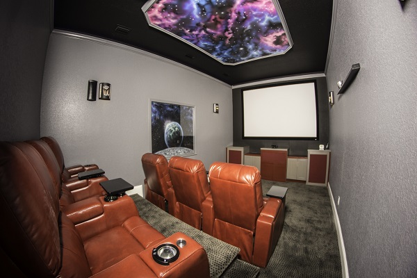 After-Custom Home Theater